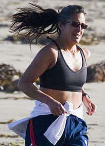 Beach runner in sports bra cropped 2 215x300