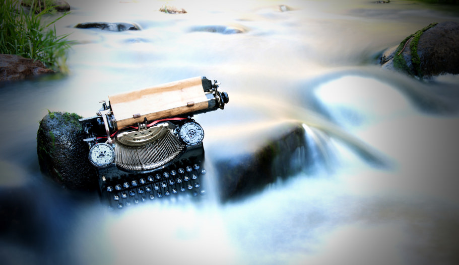 environmental writing typewriter