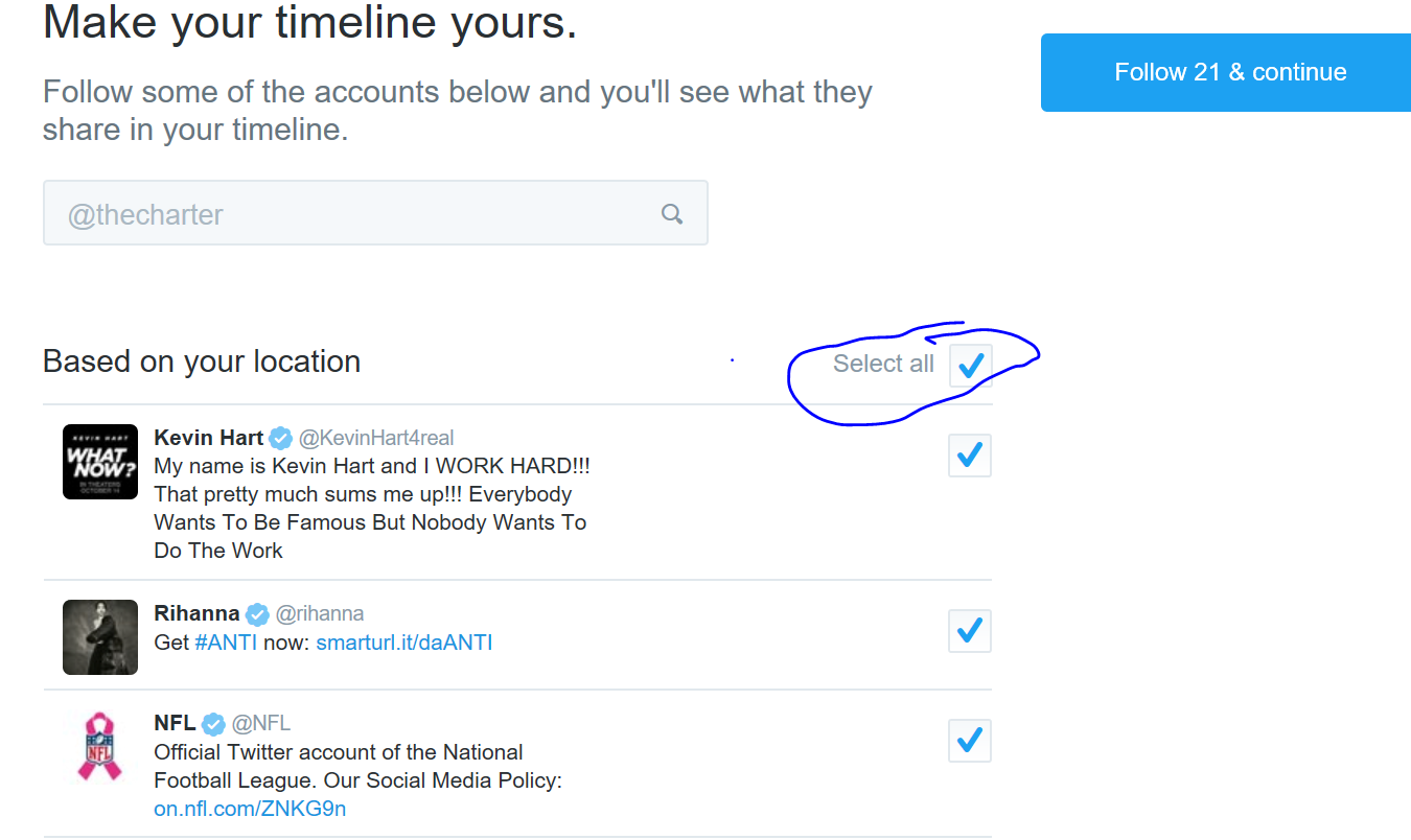 how to choose a twitter account uswername