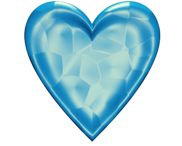 Blue Block Heart Textured 1