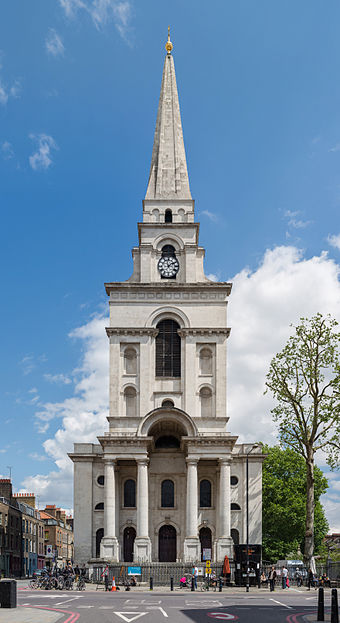 Christ Church exterior2c Spitalfields2c London2c UK Tower Hamlets