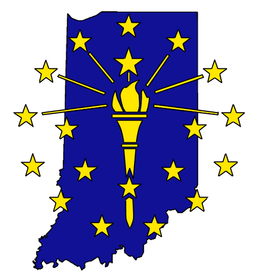 Indiana with Torch Star Logo