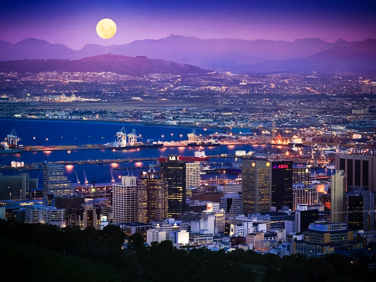 south africa cape town full moon